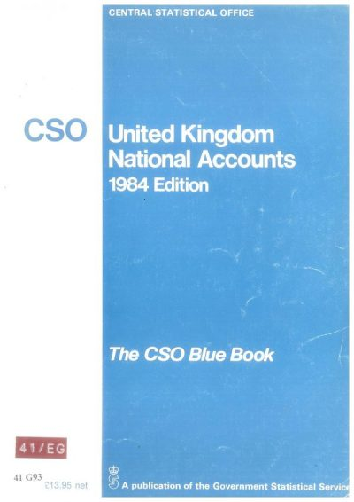 A copy of the Blue Book from 1984, from the ONS archives
