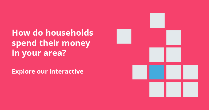 How do households spend their money in your area? Explore our interactive.