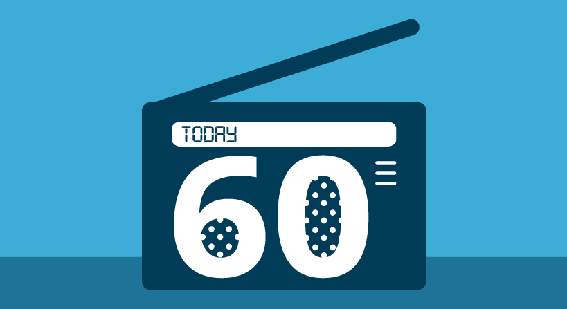 Feature image showing a digital radio with Today 60 on it